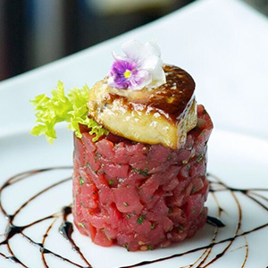 Asian Style Tuna Tartar Pan Seared Foie Gras