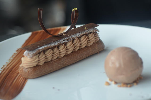 Chocolate and Dulcey de Letche Chocolate Eclair